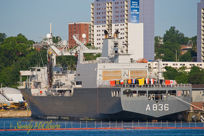 HNLMS AMSTERDAM is one of two underway replenishment vessels serving the Royal Netherlands Navy.
