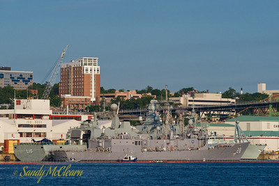 USS BOONE (foreground) and HDMS ABSALON (behind) tied up together at HMC Dockyard. BOONE is a PERRY class frigate of the United States Navy, while ABSALON is the flagship of the Royal Danish Navy.