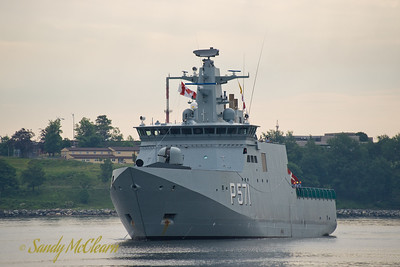 Saturday, June 26 - The first day I could dedicate to Fleet Review Week. The day started out with drizzle, and there were intermittent showers all day long. Before any of the ship tours began, I managed to catch HDMS EJNAR MIKKELSEN as she approached Cable Wharf on the Halifax Waterfront.