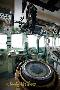 The bridge of HMCS ATHABASKAN.