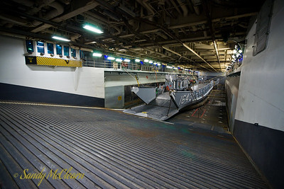 The interior of USS WASP's well deck.