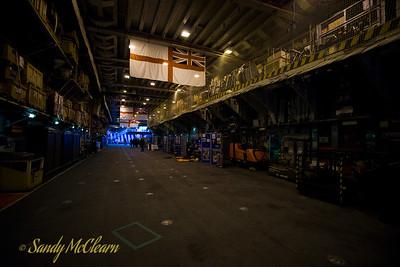 ARK ROYAL's hangar deck.