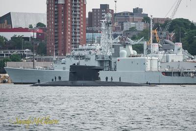HNLMS ZEELEEUW (S803) departing HMC Dockyard.