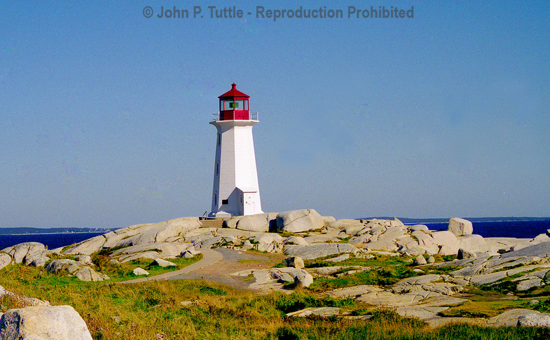 Peggy's Cove Lighthouse in Nova Scotia