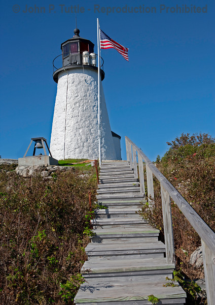 Burnt Island Light in Boothbay Harbor, Maine