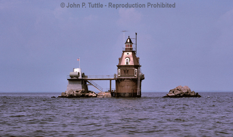 Ship John Shoal Lighthouse in Delaware Bay, NJ