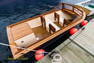 Wooden runabout.