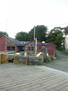 Lobster Traps at Cod End's Restaurant, Maine