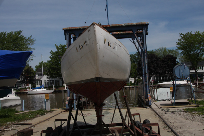 TUMLAREN, is the brand, from Sweden and in the 1930'-1940's, there were some shipped to USA and in Chicago, was a small fleet of 8.<br /> This one, was donated to the Chicago Sailing Club, as a Training boat for many years, but eventually, it was sold to a Chicago resident. More information regarding this particular boat on the next few slides,