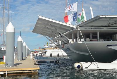 America's Cup Finals. Foundation to Preserve Water fund raising yacht in Caroline Bay Marina, Morgan's Point, Bermuda