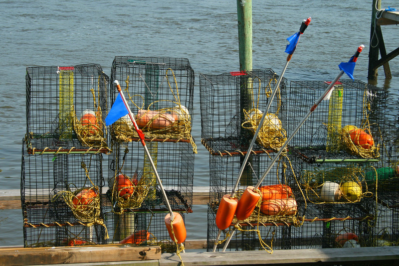 Crab traps at Little River, SC