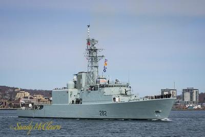 Paying off HMCS ATHABASKAN