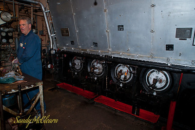 One of the boilers in the engine room of the S.S. Jeremiah O'Brien.