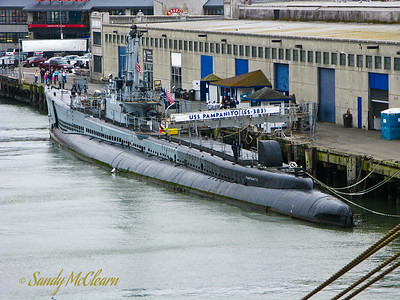 USS PAMPANITO is a Balao class fleet submarine that served in the Pacific during the Second World War, and she is open to the public on the San Francisco waterfront.