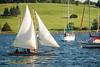 Sailing in Lunenburg harbour.