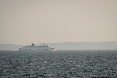 CTMA ferry Madeleine approaching Cap-aux-Meules, as seen from Cap Alright on  Ile due Havre aux Maisons.