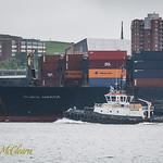 Atlantic Conveyor escorted by Atlantic Oak.