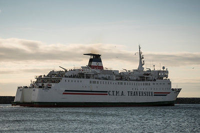 CTMA ferry Madeleine departs the port at Cap-aux-Meules.