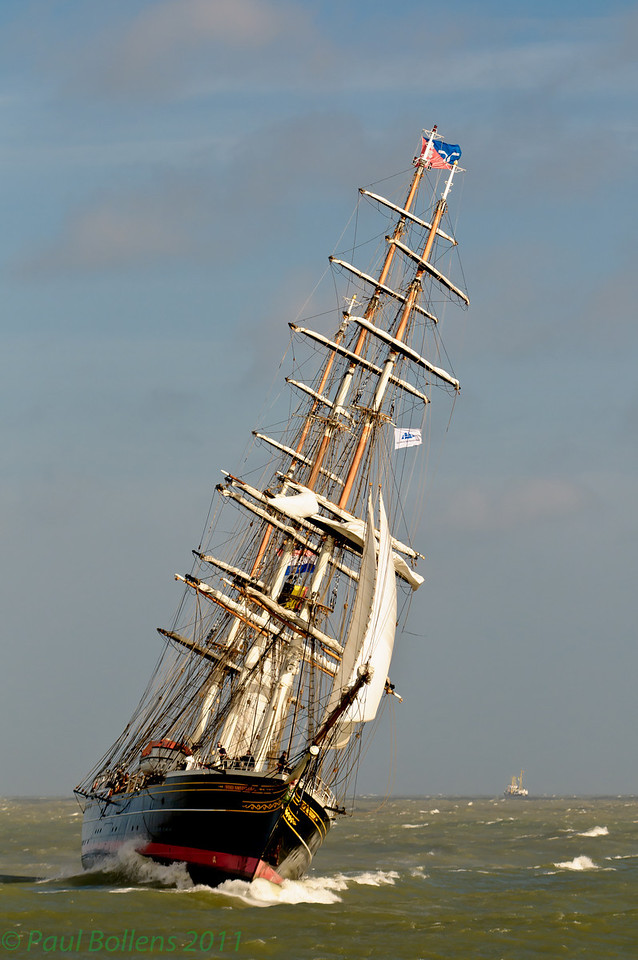Stad Amsterdam entering Ostend port with wind-force 7.<br /> Best viewed in largest sizes.