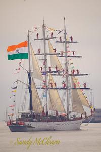 The Indian sail training vessel (barque) Tarangini.