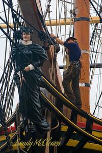"The figurehead of ""HMS BOUNTY""."