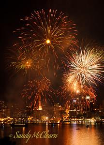 Sunday night fireworks.
