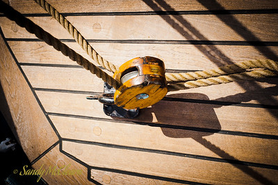 Block and tackle on USCGB Eagle.