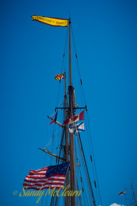 Pride of Baltimore II's masts.