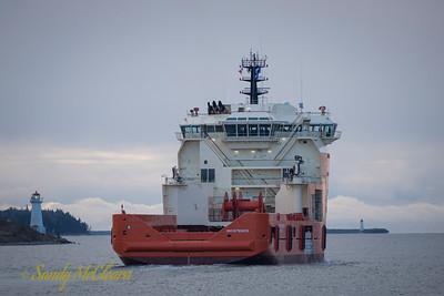 Atlantic Shrike on sea trials.
