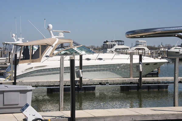 Vermilion based boat, nice ride from Cedar Point to The Lagoons, on April 12, 2012