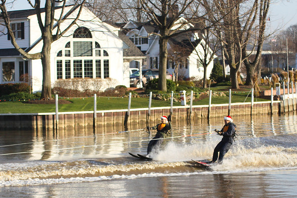 Vermilion..Water skiing is still a popular sport on Thanksgiving Day here.