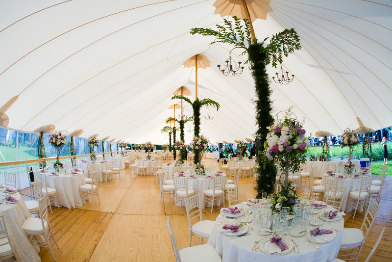 Fisheye view of a Cape Cod wedding at Nauticus Marina in Osterville.