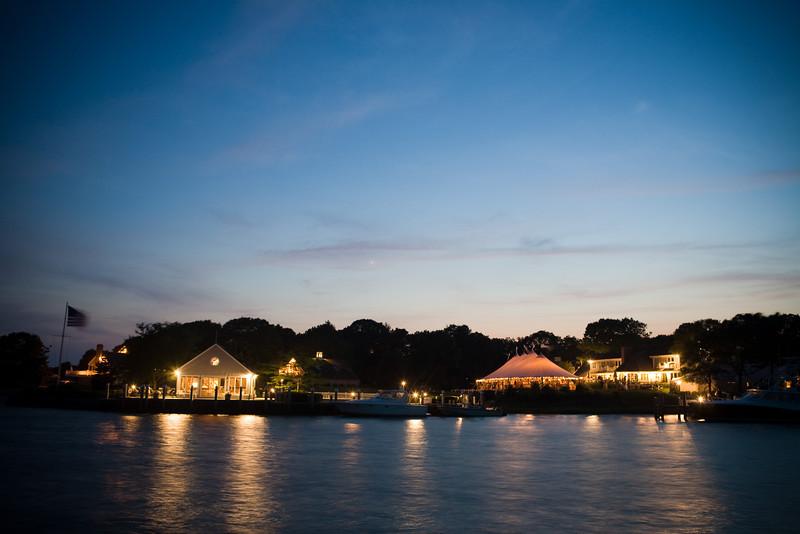 Cape Cod wedding locaiton at night.