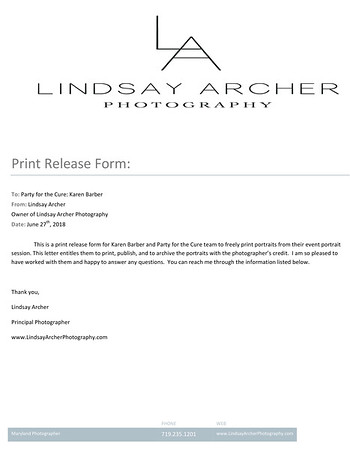 Print Release Form Party for a Cure