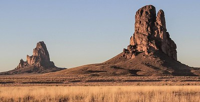 El Capitan (left) and Chaistla Butte (right)