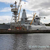 D33 HMS Dauntless in Drydock at Scotstoun