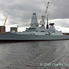 D32 HMS Daring alongside at Scotstoun fitting out wharf