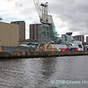 D34 HMS Diamond in drydock at Scotstoun