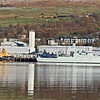 Patrol vessel P283 HMS Mersey at Faslane with tugs SD Impulse and SD Impetus