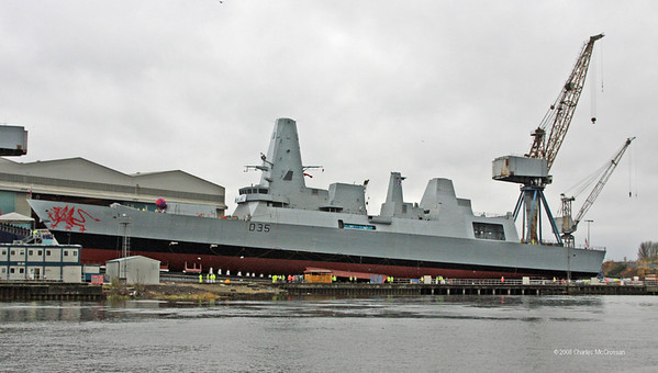 Launch of Type 45 Frigate D35 Dragon at BVT Govan
