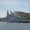 Type 42 destroyer D96 HMS Gloucester in Cardiff Docks