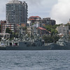 HMAS Adelaide class guided missile frigates O5 Melbourne (nearest) and 06 Newcastle (furthest away)