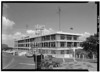 CINCPAC/CINCPACFLT Headquarters Building, Makalapa Drive, Honolulu HI.  Southeast (Rear) and Northeast (Side) Elevations. July, 1966