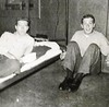Gerald (Jerry) A. Ramsay (bunkmate) and Tony Lupacchino at Sub Base Barracks, Pearl Harbor HI - CINCPAC/CINPACFLT March 1956.