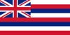 Hawaii admitted to the Union on August 21, 1959 as the 50th U.S. State.<br /> <br /> Before the English explorer Captain James Cook came to the Hawaiian Islands in 1776, the Hawaiians did not use flags.  They instead displayed distinctive marks.  In 1794, King Kamehameha of Hawaii was given a British flag by Captain George Vancouver.  It is believed that he was the first to raise a flag in Hawaii.   Until 1816, Hawaii was under British protection, which is the reason for the current state flag's prominent display of the British Union Jack.  But the red, white, and blue stripes were added to distinguish it from Britain and to express the island's desire to be independent.  The flag now contains eight stripes, representing the eight main island of the Hawaiian chain.<br /> <br /> Flag Adopted:  1894  (when Hawaii was still a republic)