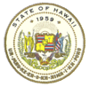 Great Seal of State of Hawaii.  Admitted as 50th U.S. State on August 21, 1959.