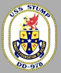 Coat of Arms USS STUMP DD-978. Named in honor of Admiral Felix Budwell Stump CINCPAC/CINCPACFLT (1952 to 1958).
