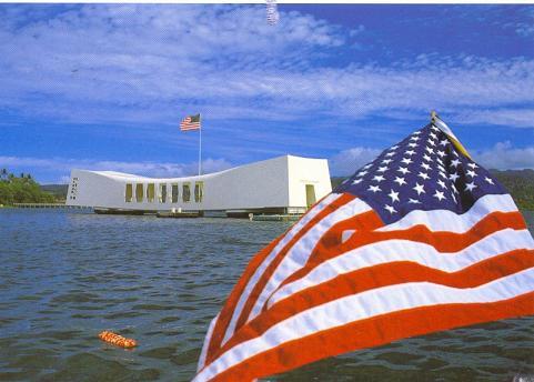 Wreath Laying at USS ARIZONA BB-39 Memorial, Pearl Harbor HI.