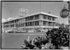 CINCPAC/CINCPACFLT Headquarters Building, Makalapa Drive, Honolulu HI.  Closer view - Southeast (Rear) and Northeast (Side) Elevations. July, 1966