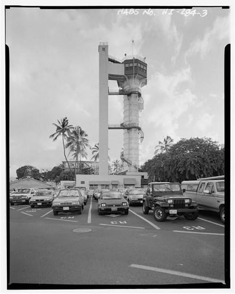 Naval Base Pearl Harbor Submarine Dive/Escape Training Tower.  Intersection Clark, Morton Streets, Pearl Harbor, Honolulu 333205pr